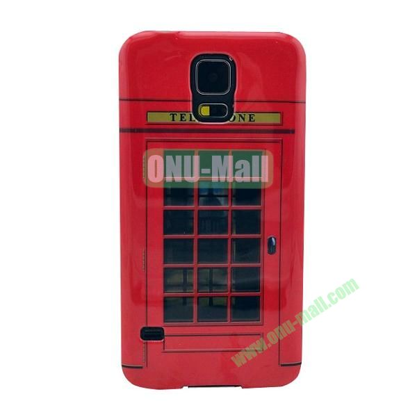 Colorful Painting Glossy Ultraslim TPU Case for Samsung Galaxy S5 I9600 G600 (Telephone Booth)