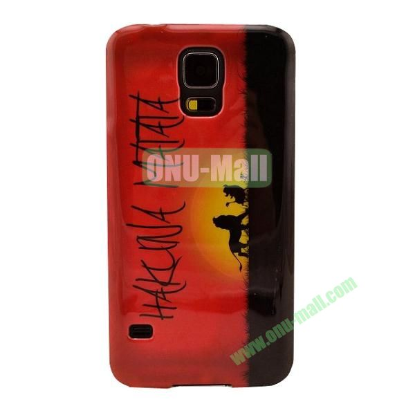 Colorful Painting Glossy Ultraslim TPU Case for Samsung Galaxy S5 I9600 G600 (Hakuna Matata)