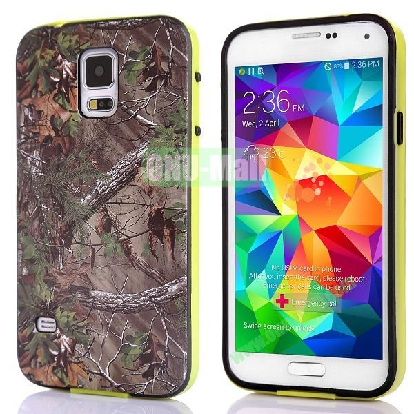 Fashionable 2 in 1 Pattern TPU and PC Back Hard Case for Samsung Galaxy S5 I9600 (Tree Branch)