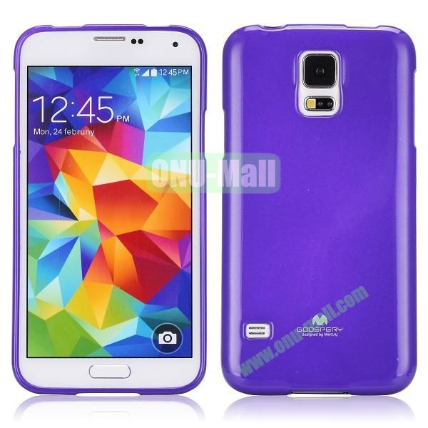 Goospery Pure Color Soft TPU Case for Samsung Galaxy S5 I9600 (Purple)