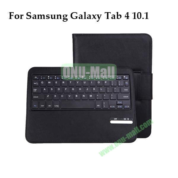 Removable Magnatic Bluetooth Keyboard for Samsung Galaxy Tab 4 10.1 T530 with Leather Case