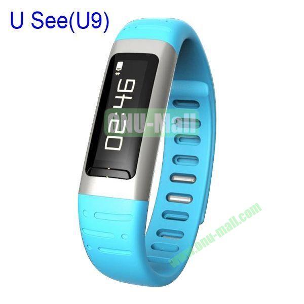 U See UWatch Bluetooth Smart Watch Waterproof Pedometer Sleep Track Sport Running Health Watch (Blue)