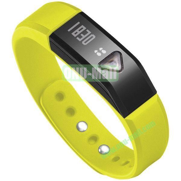 I5 Smart Bluetooth Sports Sleep Waterproof Smart Bracelet (Yellow)