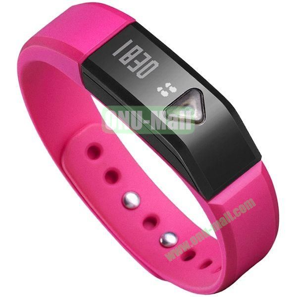 I5 Smart Bluetooth Sports Sleep Waterproof Smart Bracelet (Rose)