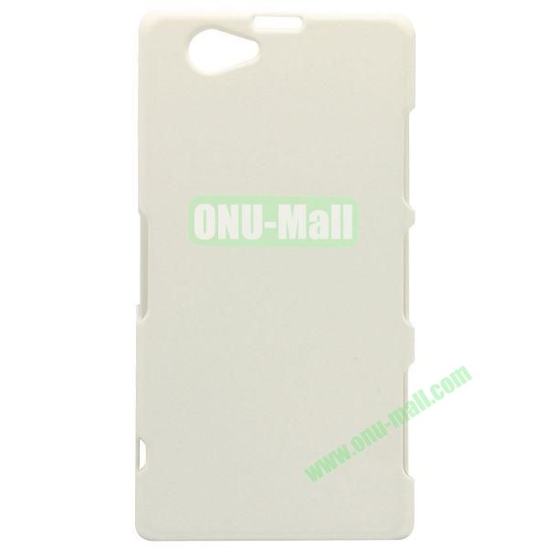 Quicksand Style Plastic Case for Sony Xperia Z1 Compact (White)