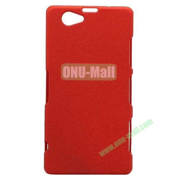Quicksand Style Plastic Case for Sony Xperia Z1 Compact (Red)