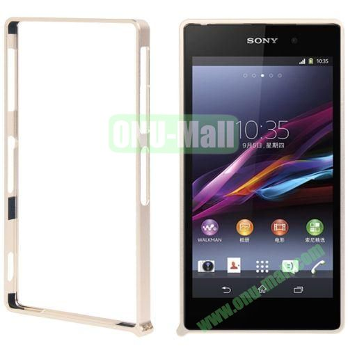 Metal Bumper Frame Case for Sony Xperia Z1L39h with mini Screw Kit (Light Gold)