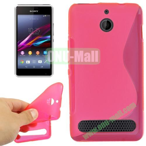 S Line Pattern TPU Case for Sony Xperia E1 (Magenta)