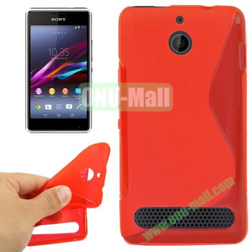 S Line Pattern TPU Case for Sony Xperia E1 (Red)