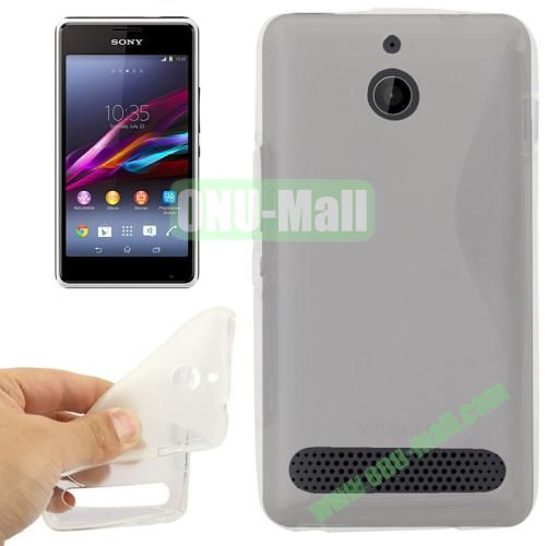 S Line Pattern TPU Case for Sony Xperia E1 (Transparent)