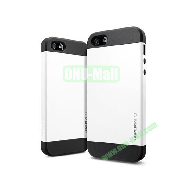 Slim Armor 2 in 1 Style Hard Case for iPhone 55S (White)