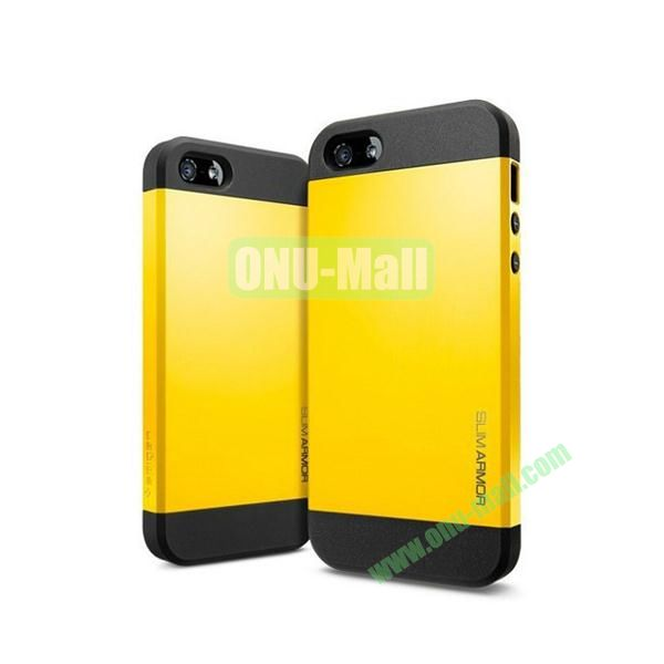 Slim Armor 2 in 1 Style Hard Case for iPhone 55S (Yellow)