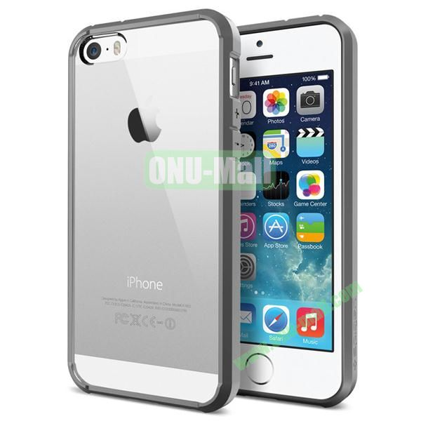 Ultra Hybrid Bumper and Transparent Back Case for iPhone 5S5 (Silver)