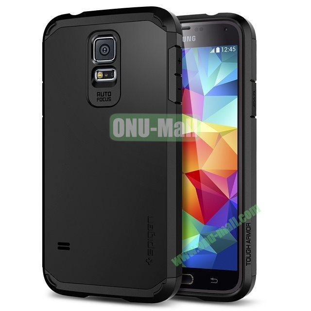 Detachable TPU + Hard PC Case For Samsung Galaxy S5  I9600 (Grey)