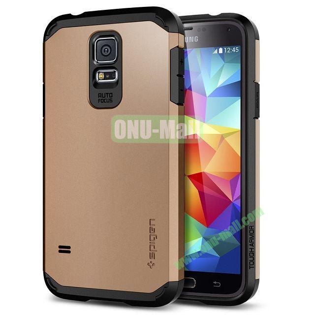 Detachable TPU + Hard PC Case For Samsung Galaxy S5  I9600 (Gold)