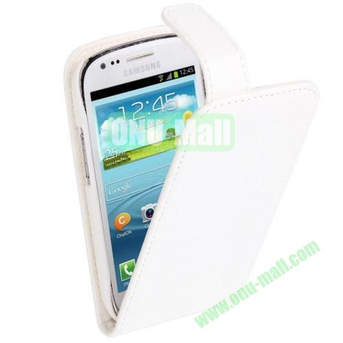 Vertical Flip Leather Case for Samsung Galaxy S3 Mini  i8190 (White)