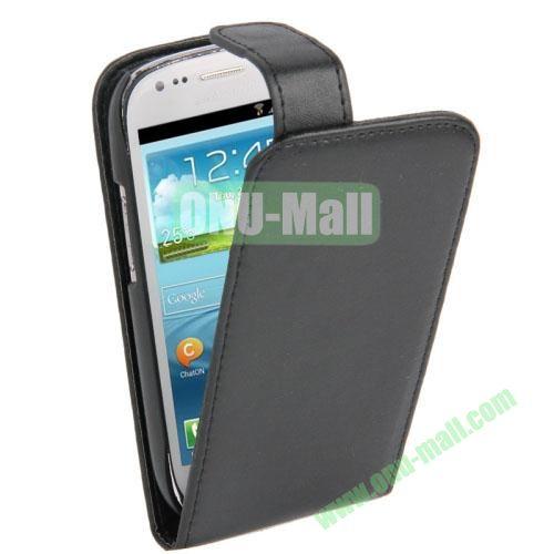 Vertical Flip Leather Case for Samsung Galaxy S3 Mini  i8190 (Black)