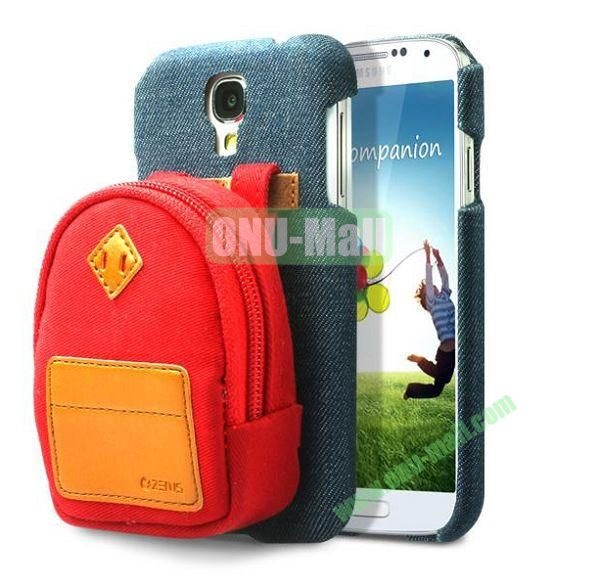 Newest Fashionable 3D Mini Backpack Case Detachable Bag Hard Back Cover For Samsung Galaxy S4 i9500(Red)