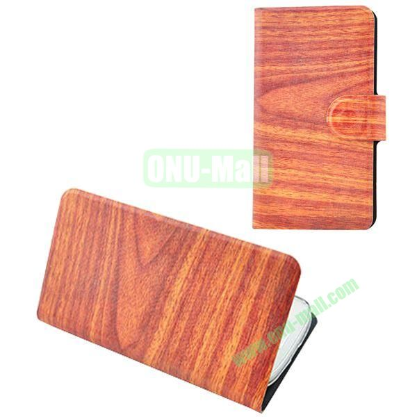 Painting Pattern Wooden Texture Leather Case for Samsung Galaxy S7560S7562(Orange)