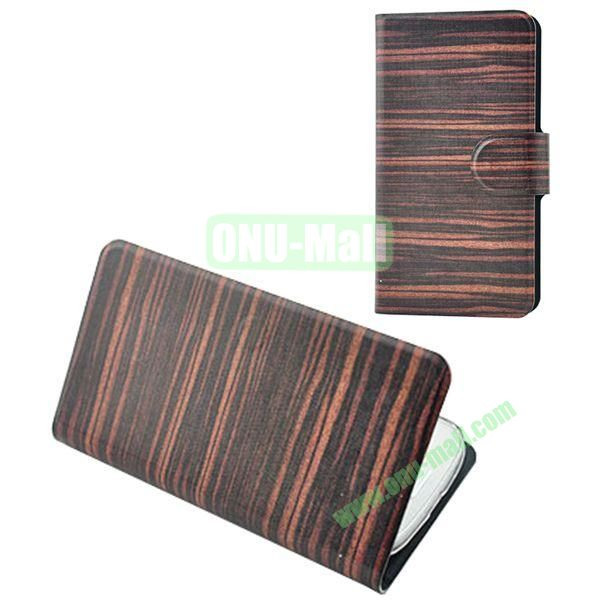 Painting Pattern WoodenTexture Leather Case for Samsung Galaxy S7560S7562(Black)