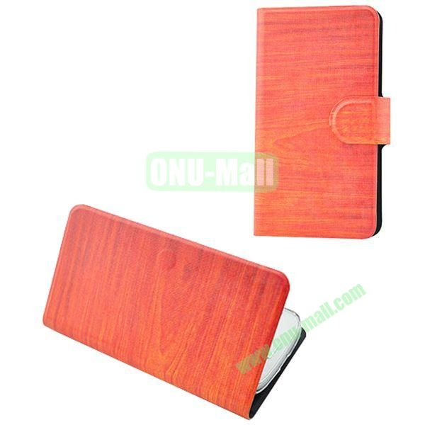 Painting Pattern WoodenTexture Leather Case for Samsung Galaxy S7560S7562(Orange)