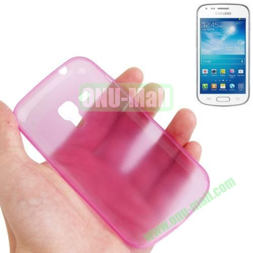 0.3mm Ultrathin Frosted Shell Case for Samsung Galaxy Trend DuosS7562 (Pink)