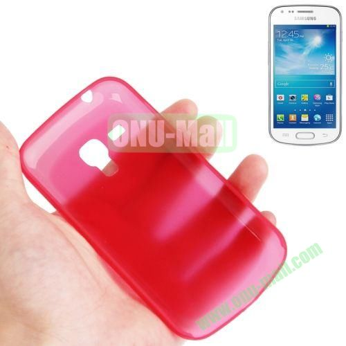 0.3mm Ultrathin Frosted Shell Case for Samsung Galaxy Trend DuosS7562 (Red)