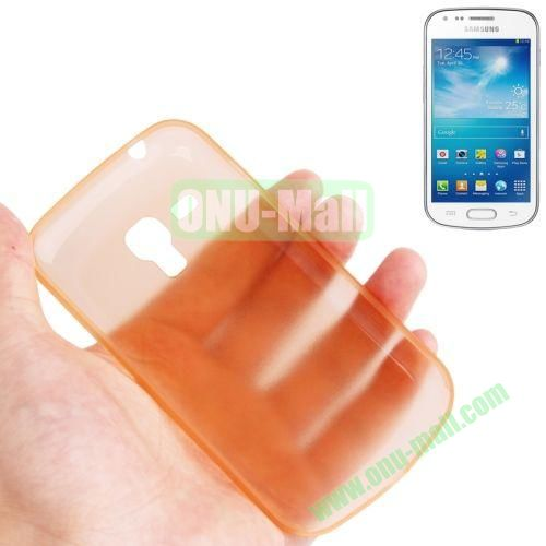 0.3mm Ultrathin Frosted Shell Case for Samsung Galaxy Trend DuosS7562 (Orange)