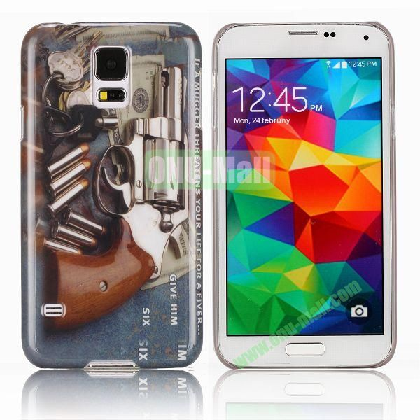 Stylish PC Hard Case with Gun and Bullet Pattern for Samsung Galaxy S5 I9600