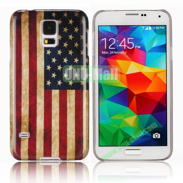 Stylish PC Hard Case with Classic USA National Flag  for Samsung Galaxy S5 I9600