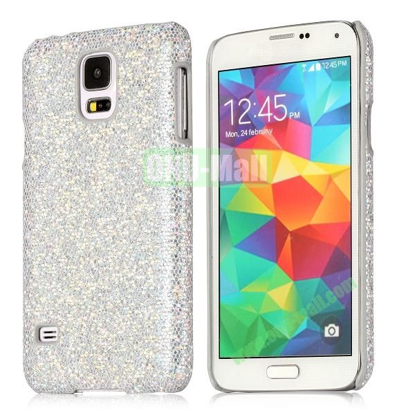 Hard Case with Glittering Powder Leather Coated for Samsung Galaxy S5 i9600 (White)
