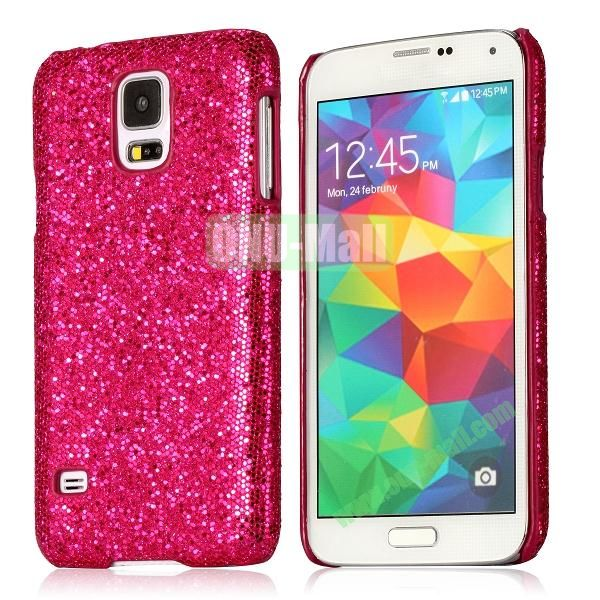 Hard Case with Glittering Powder Leather Coated for Samsung Galaxy S5 i9600 (Rose)