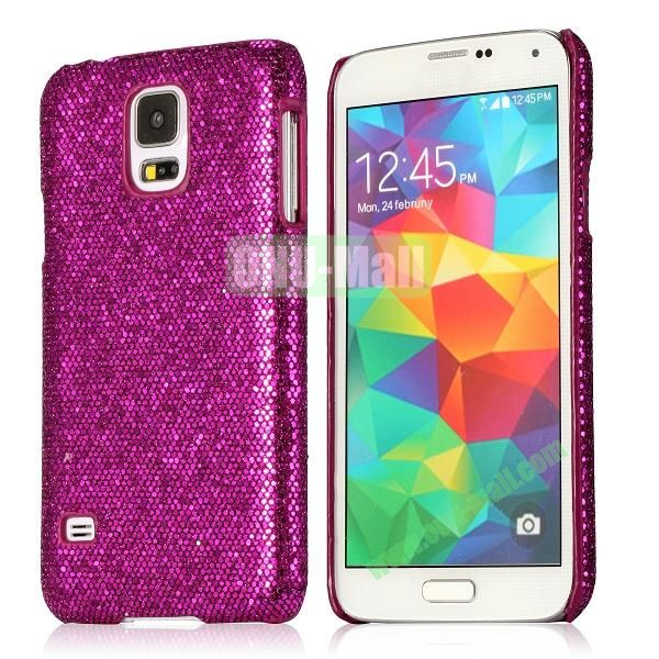Hard Case with Glittering Powder Leather Coated for Samsung Galaxy S5 i9600 (Purple)