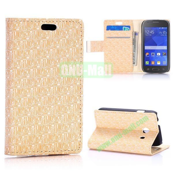 Maze Pattern Flip Leather Case for Samsung Galaxy Ace Style G310 (White)