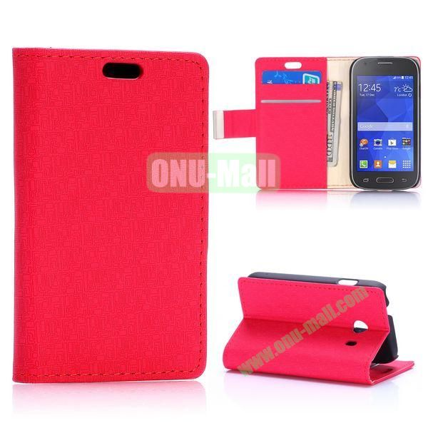 Maze Pattern Flip Leather Case for Samsung Galaxy Ace Style G310 (Red)