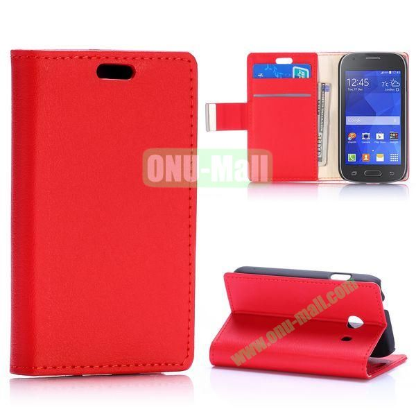 Fashion Flip Leather Case for Samsung Galaxy Ace Style G310 (Red)