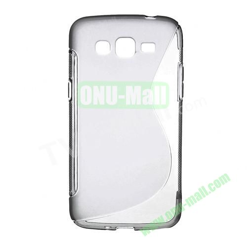 S Shape TPU Case for Samsung Galaxy Grand 2 Duos G7100 (Grey)