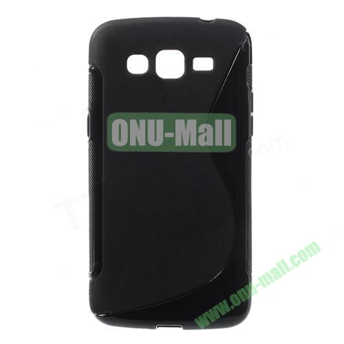 S Shape TPU Case for Samsung Galaxy Grand 2 Duos G7100 (Black)