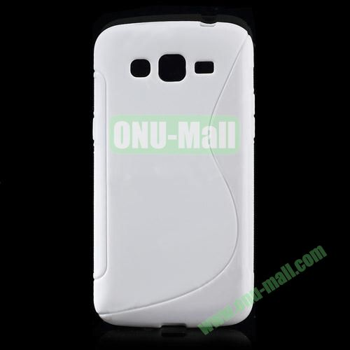 S Shape TPU Case for Samsung Galaxy Grand 2 Duos G7100 (White)