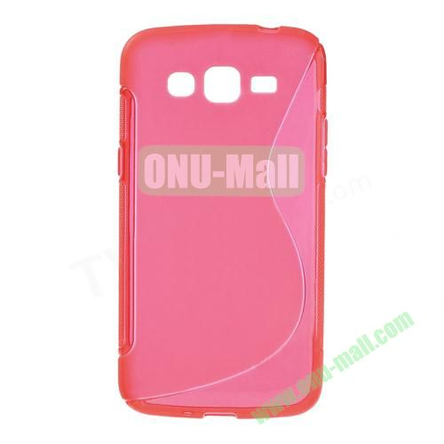 S Shape TPU Case for Samsung Galaxy Grand 2 Duos G7100 (Red)