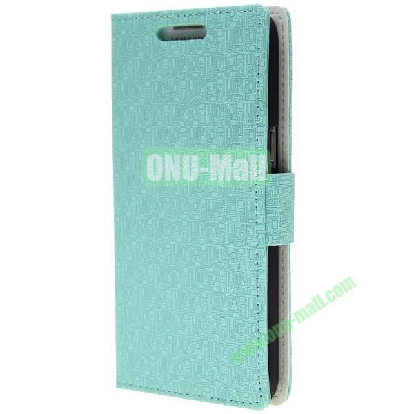 Maze Texture Wallet Pattern Leather Case for Samsung Galaxy Grand 2G7106 with Card Slots and Stand (Blue)