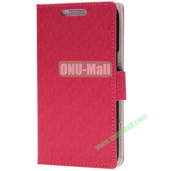 Maze Texture Wallet Pattern Leather Case for Samsung Galaxy Grand 2G7106 with Card Slots and Stand (Red)