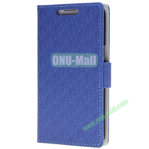 Maze Texture Wallet Pattern Leather Case for Samsung Galaxy Grand 2G7106 with Card Slots and Stand (Dark Blue)