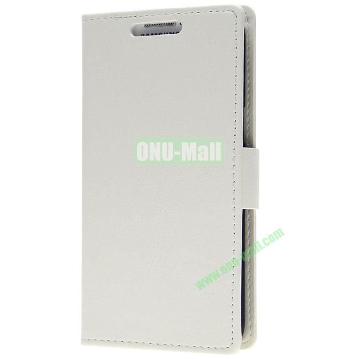 Crazy Horse Texture Wallet Pattern Leather Case for Samsung Galaxy Grand 2 G7106 with Stand and Card Slots (White)