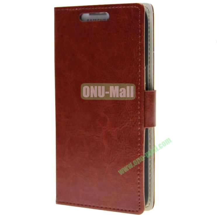 Crazy Horse Texture Wallet Pattern Leather Case for Samsung Galaxy Grand 2 G7106 with Stand and Card Slots (Brown)