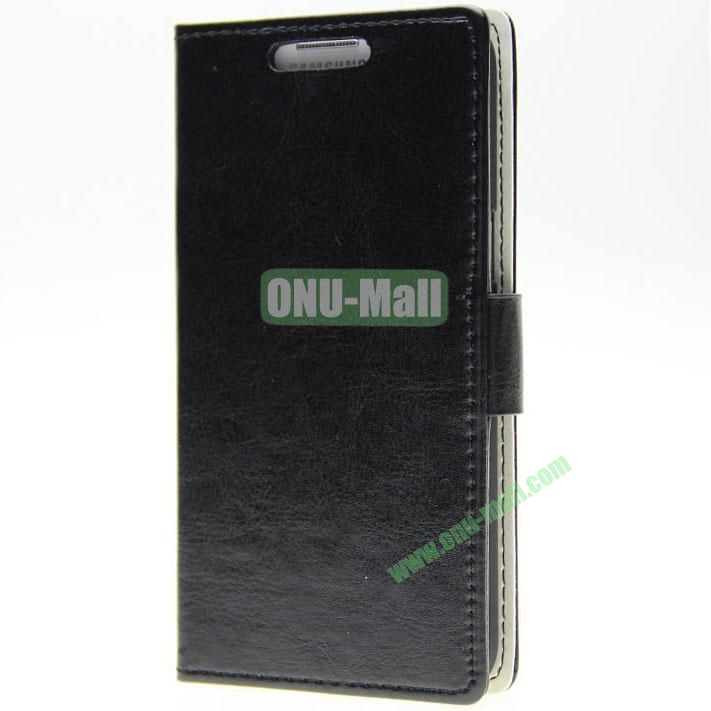 Crazy Horse Texture Wallet Pattern Leather Case for Samsung Galaxy Grand 2 G7106 with Stand and Card Slots (Black)