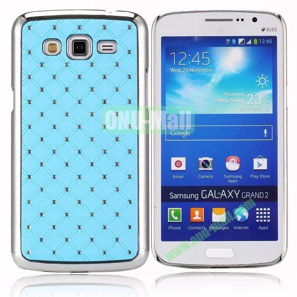 Starry Sky Stars Pattern Aluminum Hard Shell Case for Samsung Galaxy Grand 2  G7106 (Light Blue)