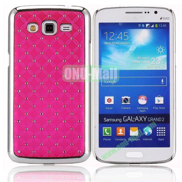 Starry Sky Stars Pattern Aluminum Hard Shell Case for Samsung Galaxy Grand 2  G7106 (Rose)