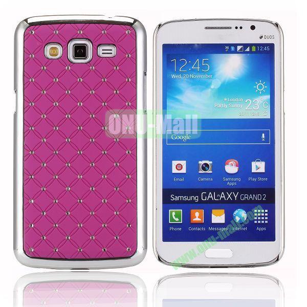 Starry Sky Stars Pattern Aluminum Hard Shell Case for Samsung Galaxy Grand 2  G7106 (Purple)