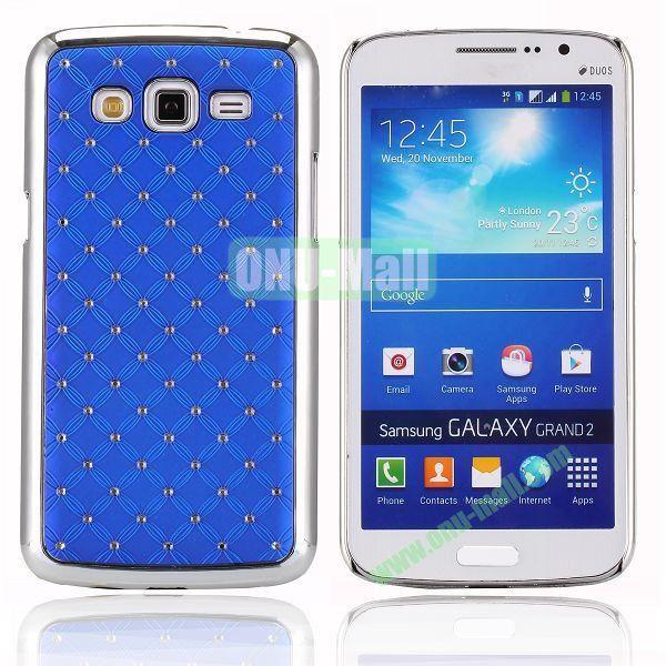 Starry Sky Stars Pattern Aluminum Hard Shell Case for Samsung Galaxy Grand 2  G7106 (Blue)